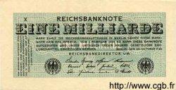 1 Milliarde Mark ALLEMAGNE  1923 P.122 SUP