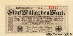 5 Milliarden Mark ALLEMAGNE  1923 P.123a SPL