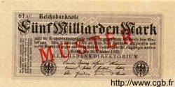 5 Milliarden Mark ALLEMAGNE  1923 P.123bs NEUF