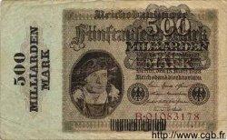 500 Milliarden Mark sur 5000 Mark ALLEMAGNE  1923 P.124a B+