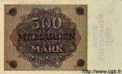 500 Milliarden Mark sur 5000 Mark ALLEMAGNE  1923 P.124a SUP