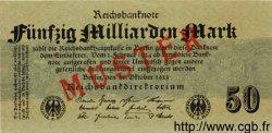 50 Milliarden Mark ALLEMAGNE  1923 P.125bs NEUF