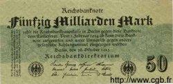 50 Milliarden Mark ALLEMAGNE  1923 P.125b TTB