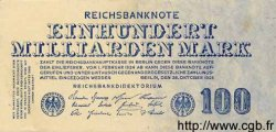 100 Milliarden Mark ALLEMAGNE  1923 P.126 SUP+