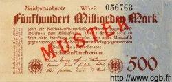 500 Milliarden Mark ALLEMAGNE  1923 P.127as SPL