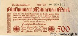 500 Milliarden Mark ALLEMAGNE  1923 P.127a SUP