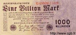 1 Billion Mark ALLEMAGNE  1923 P.129 TTB à SUP