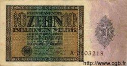 10 Billionen Mark ALLEMAGNE  1924 P.137 pr.TTB