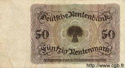 50 Rentenmark ALLEMAGNE  1925 P.171 TTB