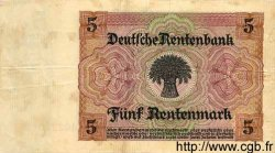5 Rentenmark ALLEMAGNE  1926 P.169 TTB+