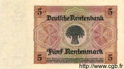 5 Rentenmark ALLEMAGNE  1926 P.169 SPL
