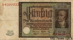 50 Rentenmark ALLEMAGNE  1934 P.172 B+ à TB