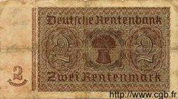 2 Rentenmark ALLEMAGNE  1937 P.174a B+