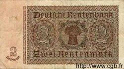 2 Rentenmark ALLEMAGNE  1937 P.174b TB