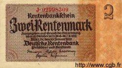 2 Rentenmark ALLEMAGNE  1937 P.174b TTB à SUP