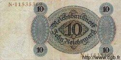 10 Reichsmark ALLEMAGNE  1924 P.175 TTB
