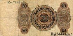 20 Reichsmark ALLEMAGNE  1924 P.176 TB