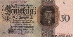 50 Reichsmark ALLEMAGNE  1924 P.177 TTB