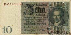 10 Reichsmark ALLEMAGNE  1929 P.180b TB+