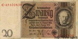 20 Reichsmark ALLEMAGNE  1929 P.181a TB
