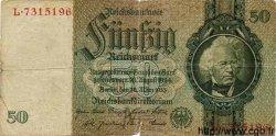 50 Reichsmark ALLEMAGNE  1933 P.182a B