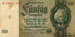 50 Reichsmark ALLEMAGNE  1933 P.182b TB