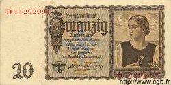 20 Reichsmark ALLEMAGNE  1939 P.185 SUP