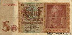 5 Reichsmark ALLEMAGNE  1942 P.186 B