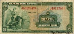 20 Deutsche Mark ALLEMAGNE FÉDÉRALE  1948 P.06a TB