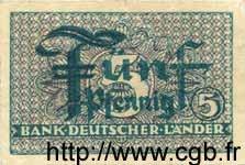 5 Pfennig ALLEMAGNE FÉDÉRALE  1948 P.11a TTB+