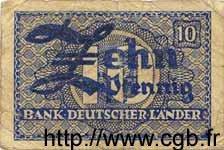 10 Pfennig ALLEMAGNE FÉDÉRALE  1948 P.12a B
