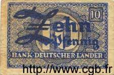 10 Pfennig ALLEMAGNE FÉDÉRALE  1948 P.12a TB