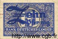 10 Pfennig ALLEMAGNE FÉDÉRALE  1948 P.12a TTB