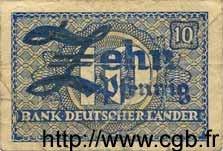 10 Pfennig ALLEMAGNE  1948 P.012a B