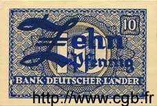 10 Pfennig ALLEMAGNE FÉDÉRALE  1948 P.12a NEUF
