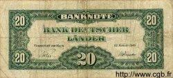 20 Deutsche Mark ALLEMAGNE FÉDÉRALE  1949 P.17a B+