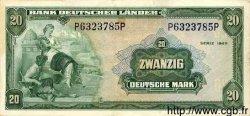 20 Deutsche Mark ALLEMAGNE FÉDÉRALE  1949 P.17a TTB+