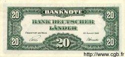 20 Deutsche Mark ALLEMAGNE FÉDÉRALE  1949 P.17a SUP