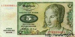 5 Mark ALLEMAGNE  1960 P.018 TB+