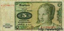 5 Mark ALLEMAGNE  1960 P.018 B