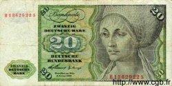 20 Deutsche Mark ALLEMAGNE FÉDÉRALE  1960 P.20 TB