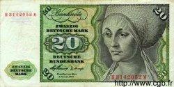 20 Deutsche Mark ALLEMAGNE FÉDÉRALE  1960 P.20 TTB
