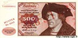 500 Deutsche Mark ALLEMAGNE FÉDÉRALE  1960 P.23s SPL