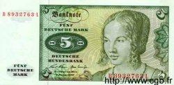 5 Deutsche Mark ALLEMAGNE FÉDÉRALE  1960 P.30a pr.NEUF