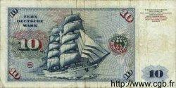 10 Deutsche Mark ALLEMAGNE FÉDÉRALE  1960 P.31a B