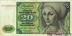 20 Deutsche Mark ALLEMAGNE FÉDÉRALE  1960 P.32a TB
