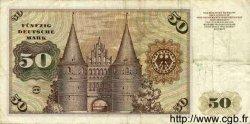 50 Deutsche Mark ALLEMAGNE FÉDÉRALE  1960 P.33a TB+