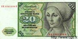 20 Deutsche Mark ALLEMAGNE FÉDÉRALE  1980 P.32d TTB+