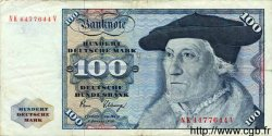 100 Deutsche Mark ALLEMAGNE FÉDÉRALE  1980 P.34d TB