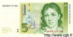 5 Deutsche Mark ALLEMAGNE FÉDÉRALE  1991 P.37 pr.NEUF